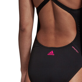 adidas Athletic Tape Swimsuit Women Black/Shock PInk
